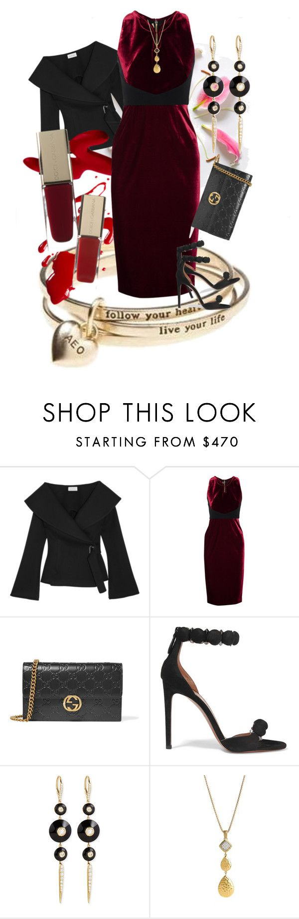 """Turning Heads"" by rita257 ❤ liked on Polyvore featuring American Eagle Outfitters, Beaufille, Roland Mouret, Gucci, Alaïa, Maria Canale and John Hardy"