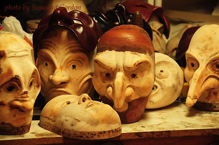 Leather mask wooden head molds. By maskmaker Guy Levesque.Performing Arts, Marionette Puppets, Guys Levesque, Leather Masks, Masks Maker, Maskmak Guys, Head Moldings, Masks Inspiration, Costumes Ideas