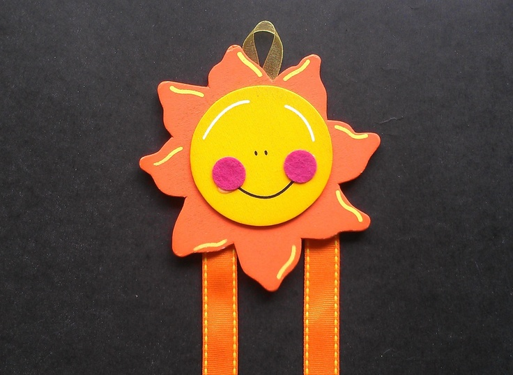 Sunny Hair Bow & Barrette Holder by PrettiesbyVee on Etsy
