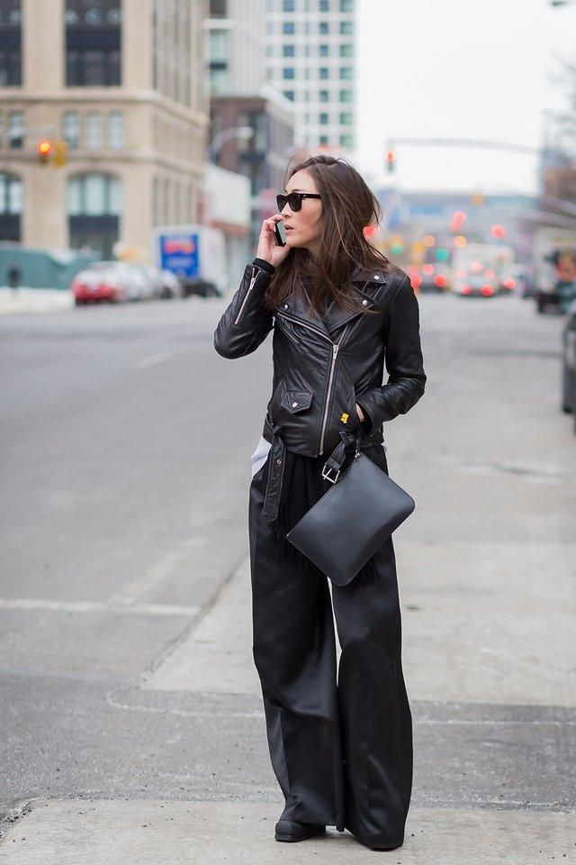 Leather jackets like the Mape and this style spotted on Jayne Min are hot commodities at the brand's sample sales
