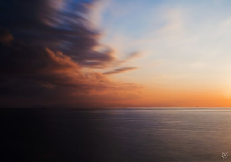 Contrast and sun - Long exposure sunset (Athens, Greece).  #sunset #greece #attica #athens #sea #landscape #photo #nature  #image #500px #clouds #mediterranean #contrast #image #manipulation #angeloknf