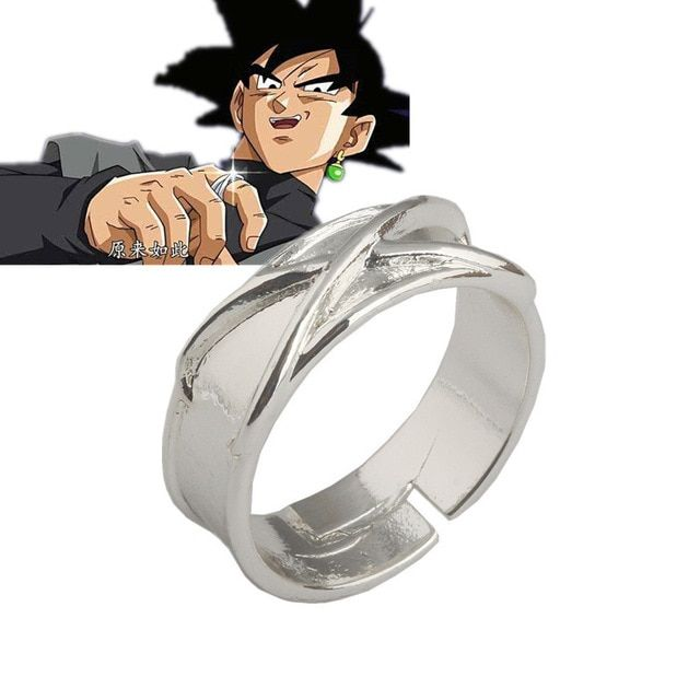 Dragon Ball Z Dark Goku Black Potara Time Ring Cosplay Props Super Saiyan Ear Ring Limited Collection Model Review Dragon Ball Z Dragon Ball Goku Black Ring