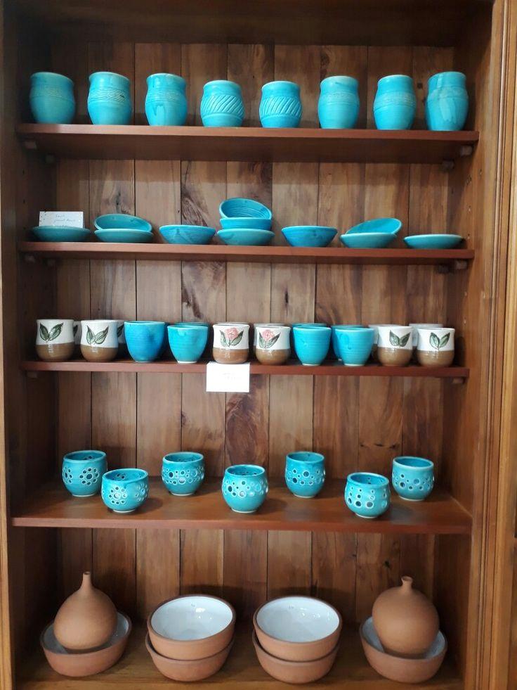 All a bit blue.... Frank Hakkaart West Melton pottery