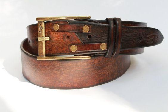 Rock n roll leather belts Men's leather belt hipster door ISHAOR