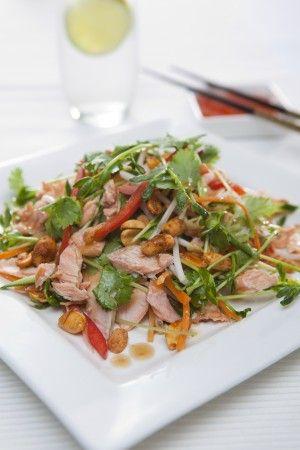 Thai Salad with HUON Hot Smoked Salmon