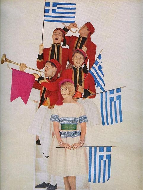 1960s fashion, it's all Greek to me :D #vintage #fashion #retro #Greece #Greek #clothing #magazines