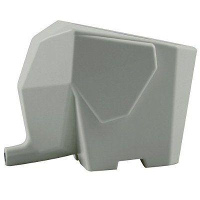 RUIISTU Cute Elephant Casa cucina scolapiatti bagno piatto cosmetici penna pennello deposito titolare casella Rack organizzatore essiccatore portaposate, grigio