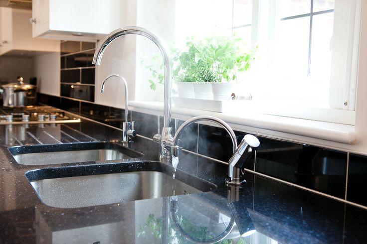 Stargate granite worktop - Blanco taps and Quooker hot tap
