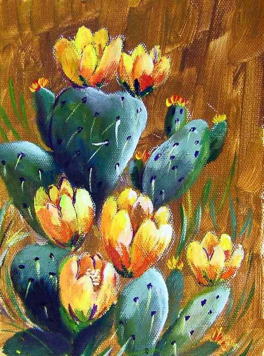 Back to Basics - Prickly Pear Cactus - Acrylic Painting Lessons for Beginners to Advanced Artists