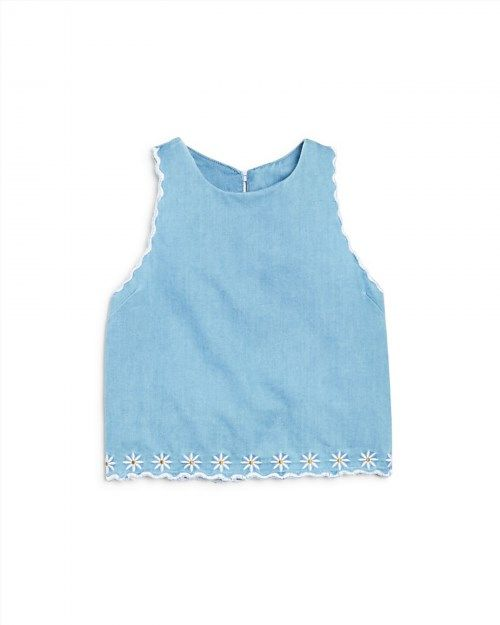38.00$  Watch now - http://vidnh.justgood.pw/vig/item.php?t=pt9ktpm8926 - Bloomie's Girls' Embroidered Chambray Top - Sizes 2-6X - 100% Exclusive