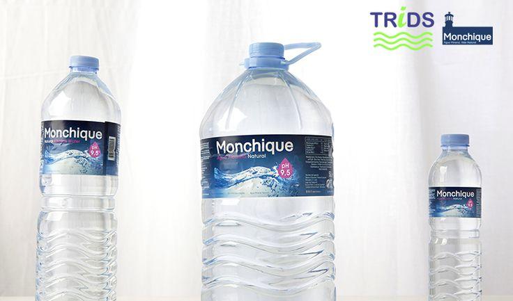 Botellas de Monchique: 0.5 litros, 1 litro y 5 litros
