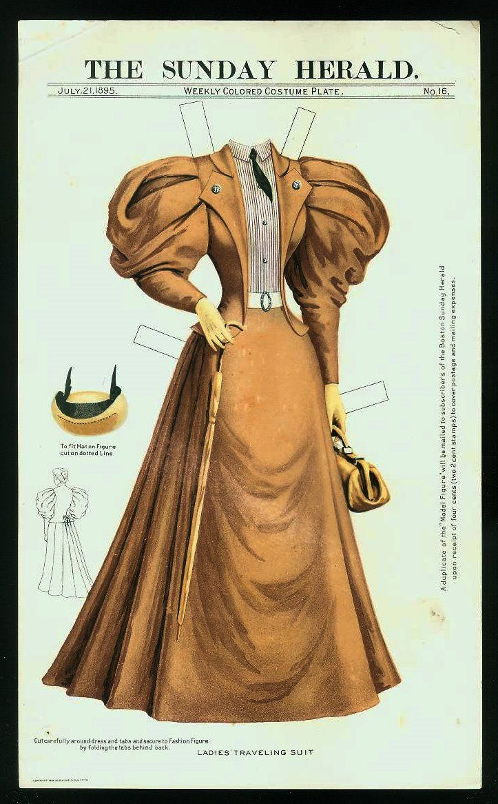 The Sunday Herald Paper Doll - July 21, 1895
