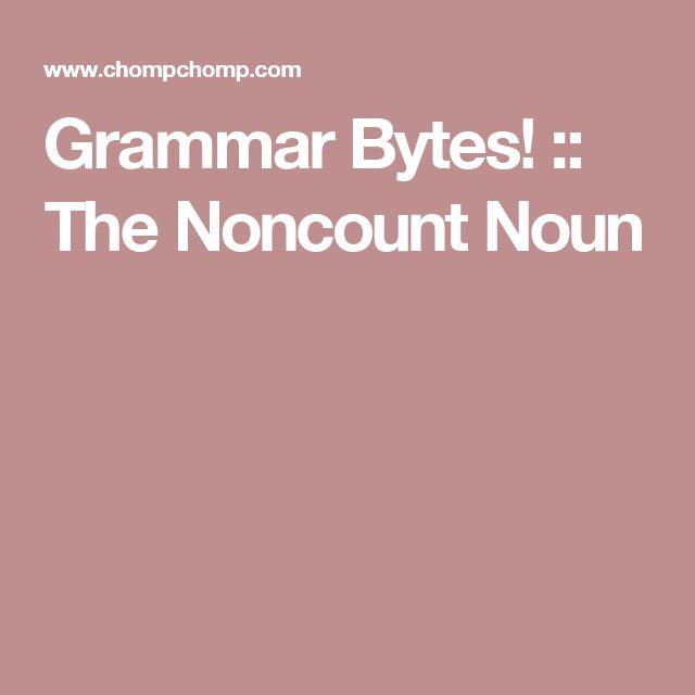 Grammar Bytes! :: The Noncount Noun