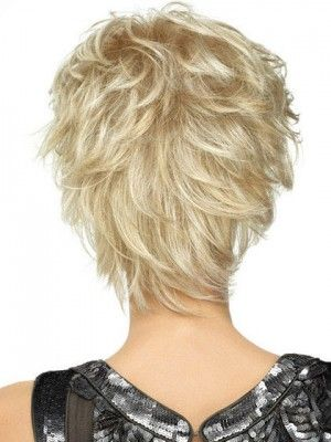 playful short shag lightweight spiky cut wig, wigs for short hair