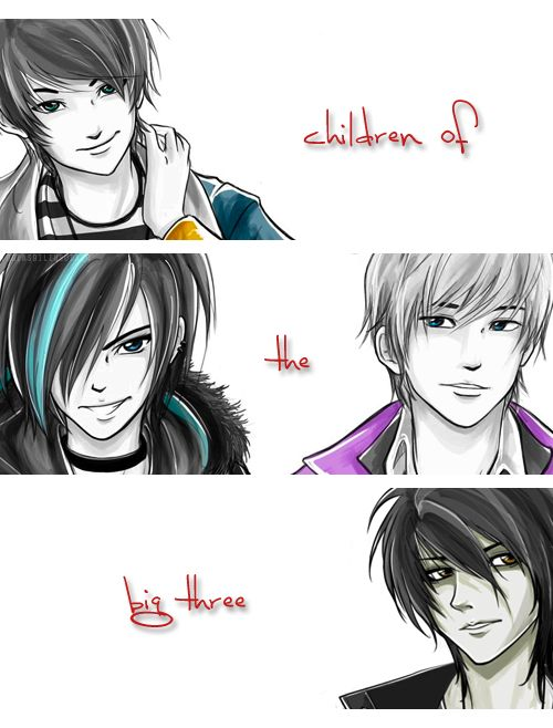 The children of the Big Three. Um... wheres Bianca and/or Hazel?