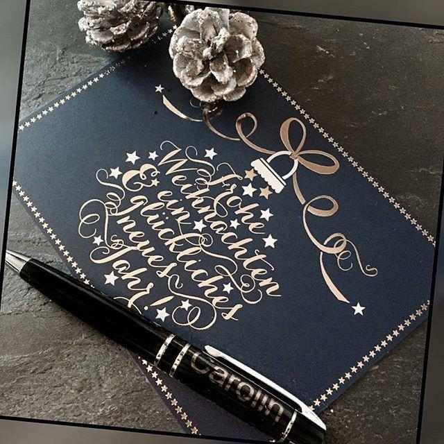 Weihnachtskarten Mit Kugelschreiber.Mit Dem Hübschen Gravierten Kugelschreiber Von Personello Schreiben