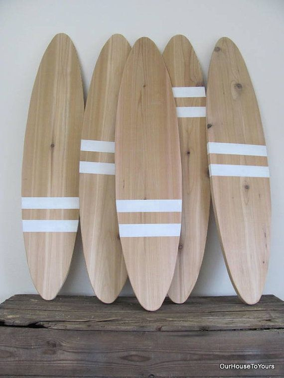 ONLY 3 LEFT (were $45.00/ now only $30.00) MADE TO ORDER and will be shipped in 3 weeks  Measure 36 long and 8 wide at the widest part of the surf board  ⛵️theses are only for decoration and not for actual surfing  ORDERING... choose your stripe location in the add to cart section (leave me a note when choosing custom) leave me a message on the color stripes you are wanting (the last picture has color options)if there is no message left for me you will get the white stripes as shown     M...