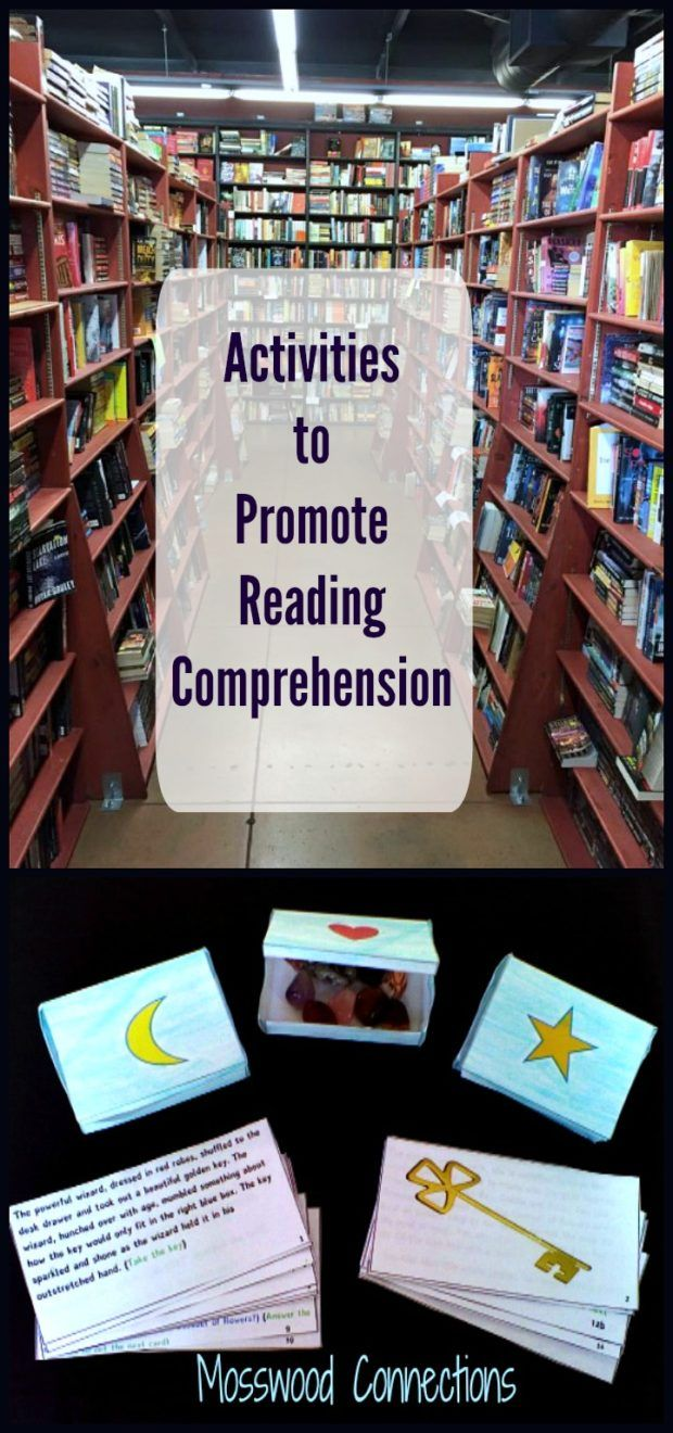 Activities to Promote Reading Comprehension Enjoyable ways to increase reading fluency and reading comprehension. Reading activities designed to entice a reluctant reader.