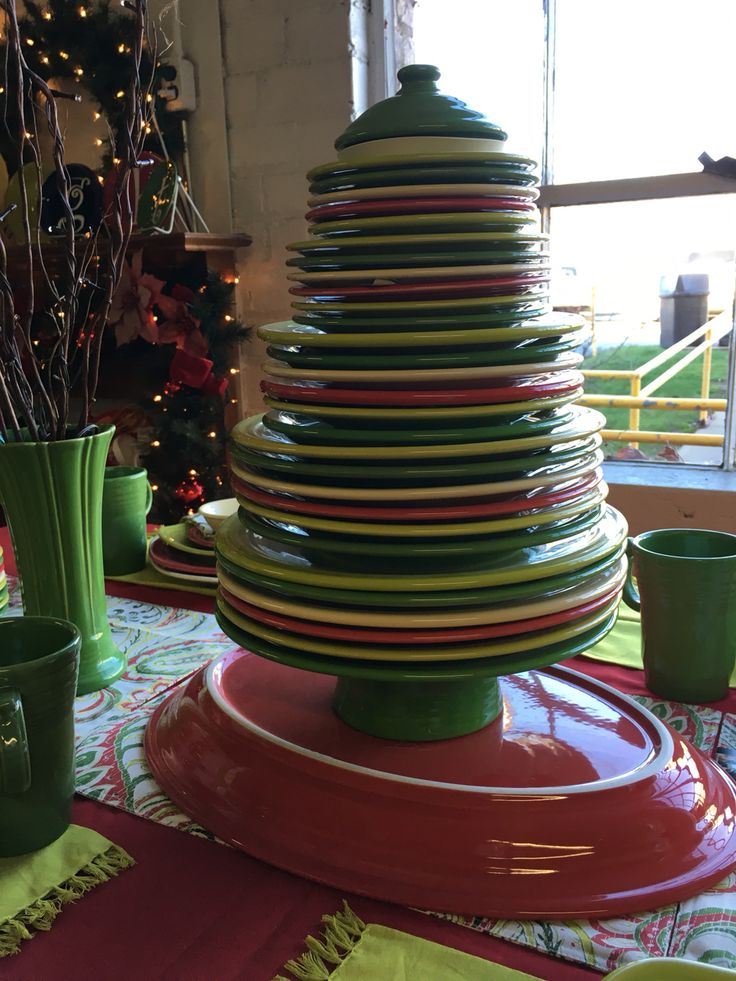 Fiesta plate Christmas tree @ Fiesta Outlet Newell WV & 372 best Fiesta Ware images on Pinterest | Fiesta ware Homer ...