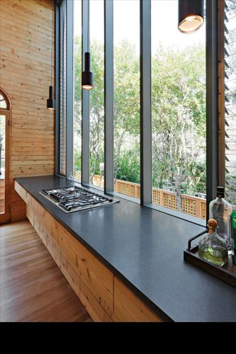 Gifford House II, kitchen. Courtesy of Fire Island Modernist: Horace Gifford and the Architecture of Seduction.The Most Stunning Beach Houses NYC Has Ever Known #refinery29