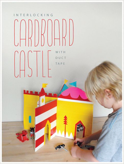 DIY Cardboard Castle (with duct tape) tutorial, cool idea