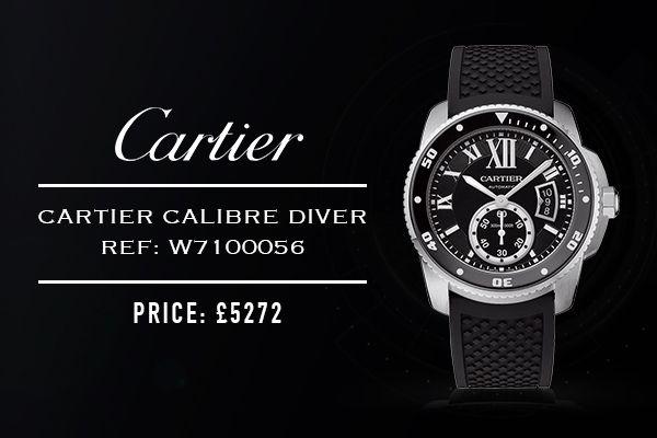 #Cartier #Calibre #Diver Auto - Ref: W7100056 - £5272  https://www.cohenandmassias.com/product/cartier/calibre-cartier-diver-automatic-blk-rubb/5448/  http://taggled.tv/play/5585