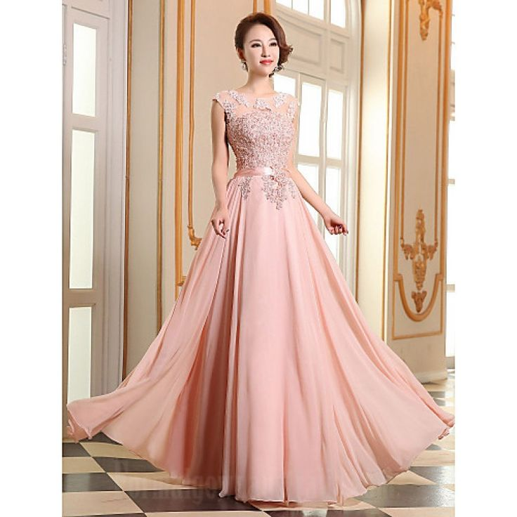 Australia Formal Evening Dress Pearl Pink Ruby Plus Sizes Dresses A-line Jewel Long Floor-length Georgette Formal Dress Australia