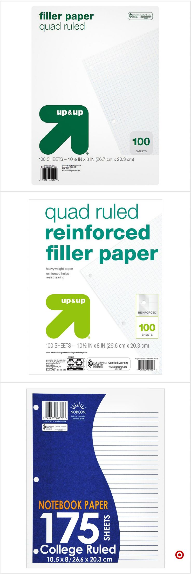 Shop Target for filler paper you will love at great low prices. Free shipping on orders of $35+ or free same-day pick-up in store.