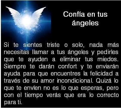 #UniversoDeAngeles Confía en tus ángeles.