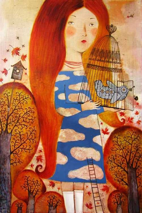 Love the girl's expression and her red hair - Anna Silivonchik