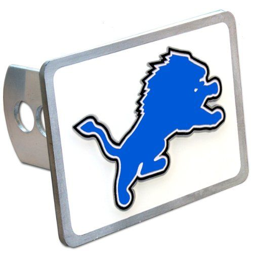 Detriot Lions NFL Hitch Cover  http://allstarsportsfan.com/product/detriot-lions-nfl-hitch-cover/  Officially licensed NFL merchandise Durable zinc Fits class II and class III hitch receivers