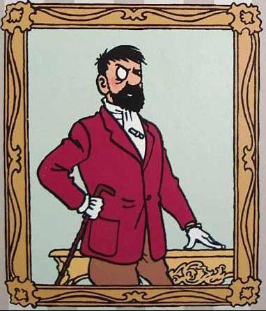 Captain Haddock's portrait...