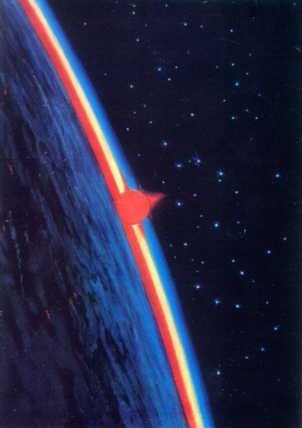 space is the breath of art ― frank lloyd wright | morning in space | artist: soviet cosmonaut alexey leonov