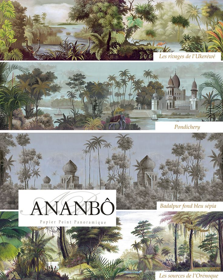 Ananb Panoramic Wallpapers Hand Painted Scanned And Printed