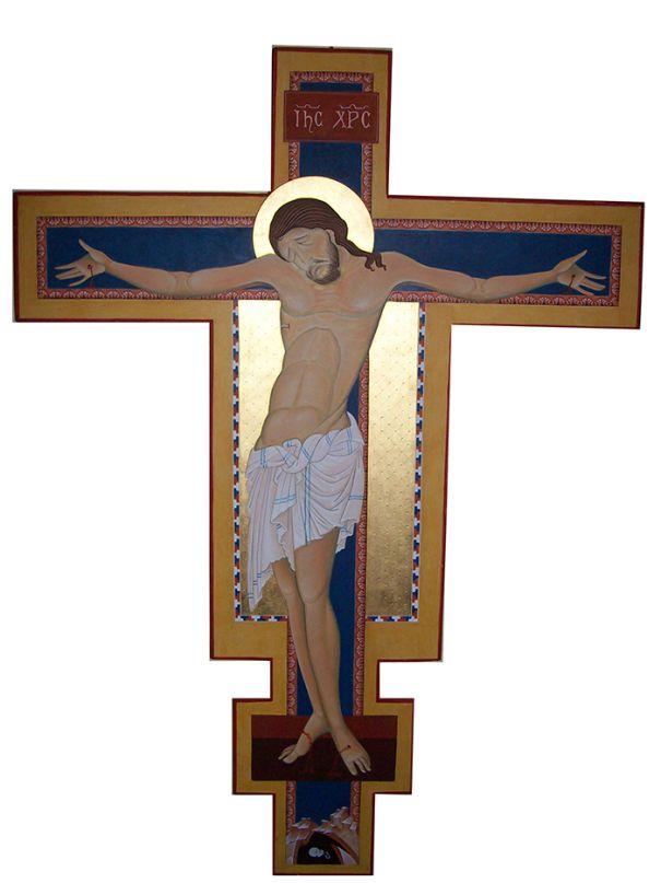 Contemporaneo : LE OPERE DEI MAESTRI RAFFA E RENZI: Icona del Battesimo di Gesù (Giovanni Raffa-Laura Renzi) E' l'icona dell'Epifania, la festa della manifestazione pubblica del Cristo nelle acque del Giordano.