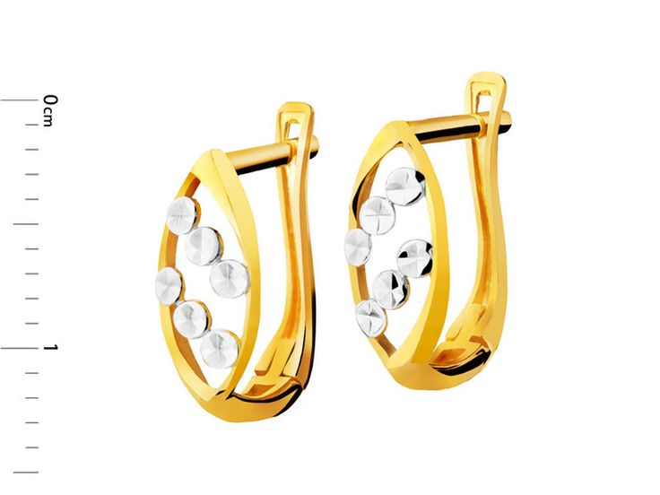 Złote kolczyki - wzór AP121-8399 / Apart