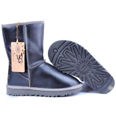 UGG Metallic Classic Short Boots 5842 Black   http://cheapugghub.com/classic-ugg-boots-ugg-boots-5842-c-64_79.html