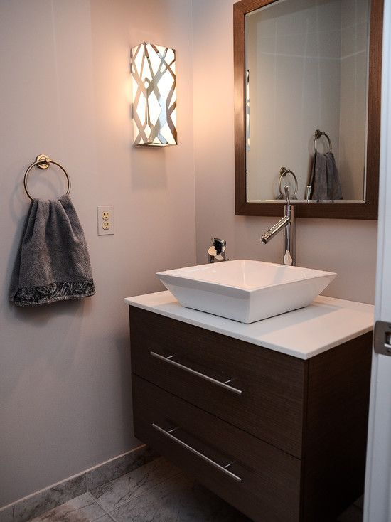 Powder room design pictures remodel decor and ideas for Powder room vanity sink