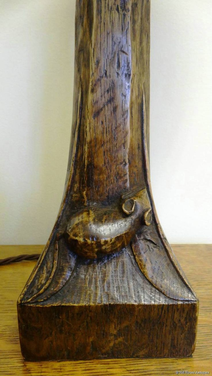 Early Mouseman table lamp in from Hill House Antiques