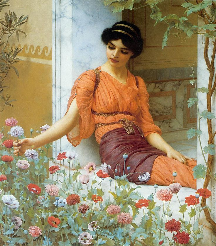 """""""Summer Flowers"""" by Lawrence Alma-Tadema"""