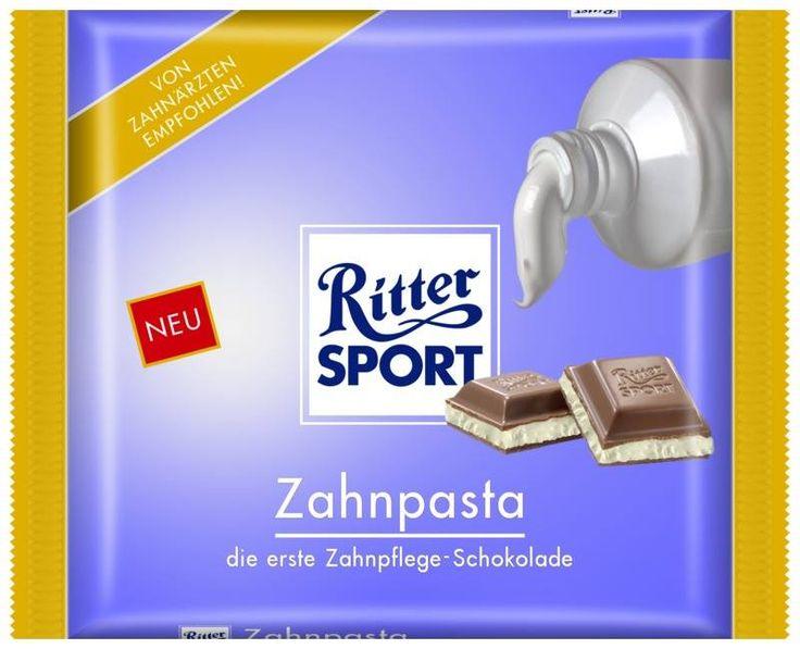RITTER SPORT Fake Schokolade Sorte Zahnpasta