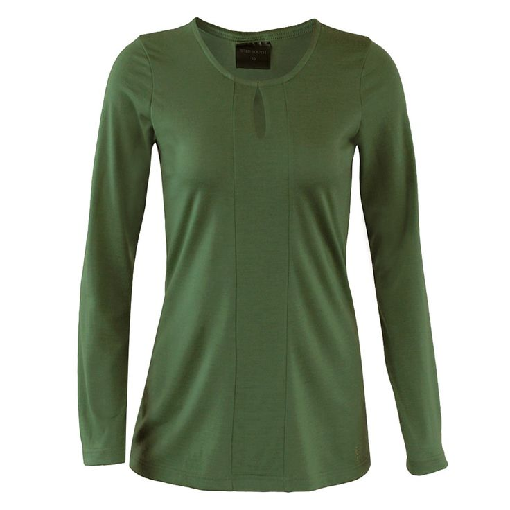 Merino Long Sleeve Teardrop Top / Odour resistant and fully machine washable.