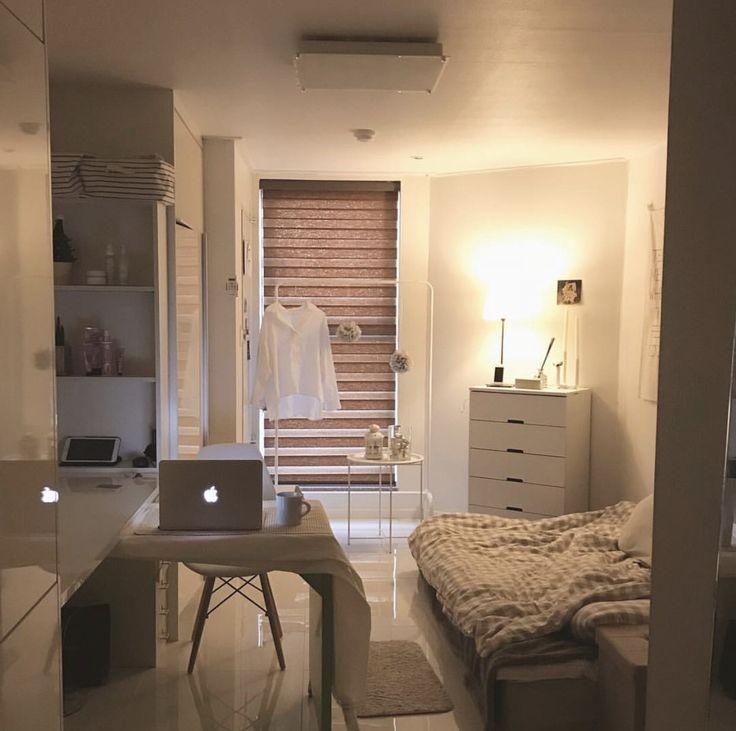 Korean style minimalist aesthetic room