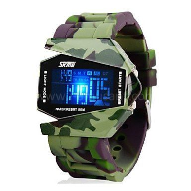 Montre LED homme sport Avion style - Camouflage