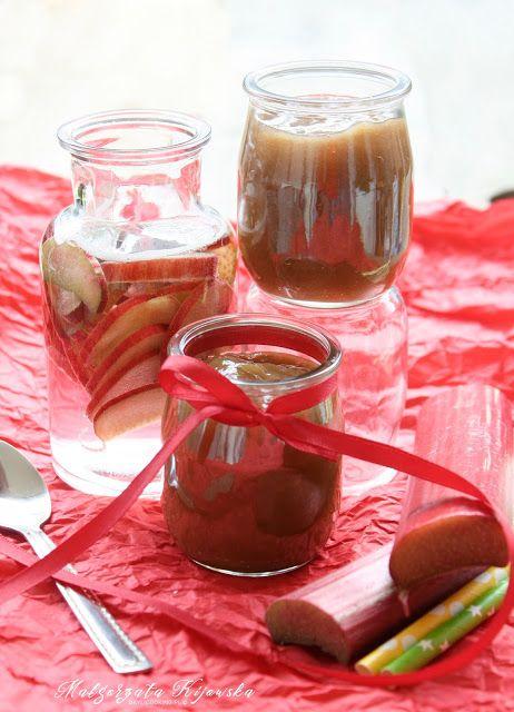 Aksamitny dżem rabarbarowy z sokiem pomarańczowym