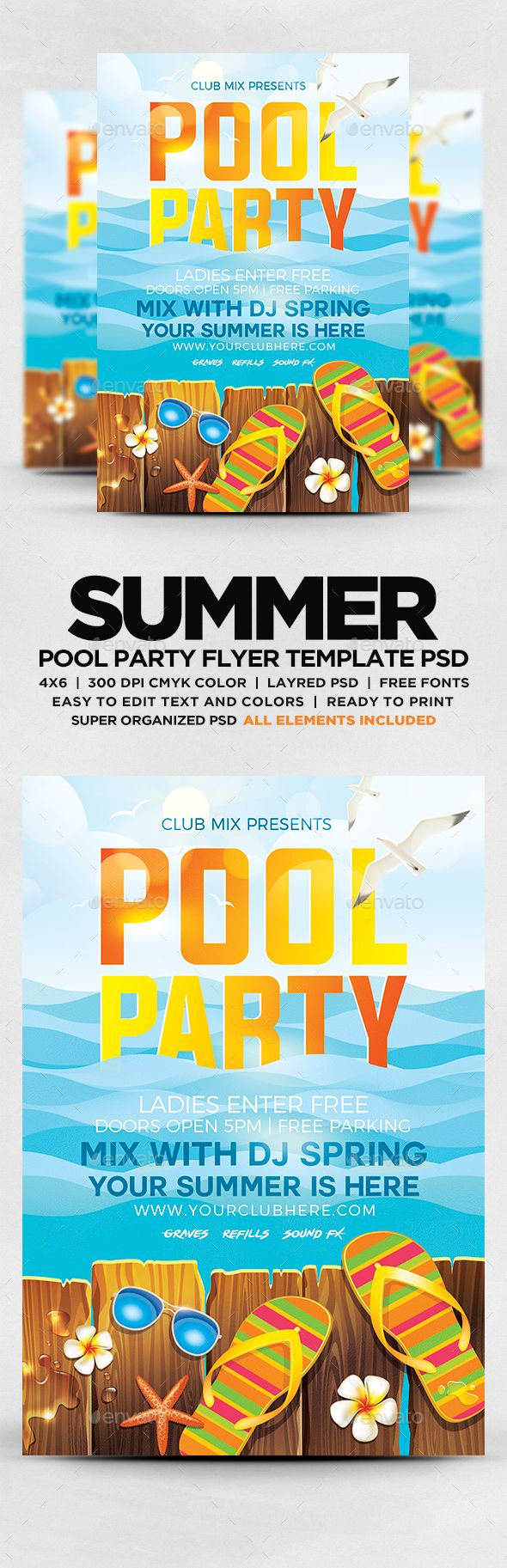 Summer Pool Party #Flyer   Flyers Print Templates Download Here: Https://