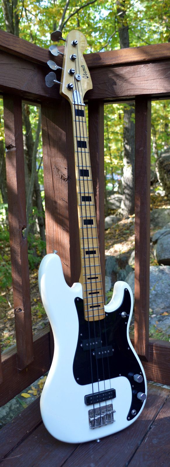 Rare 1976 Ibanez 2369B-WH Silver Series P Bass