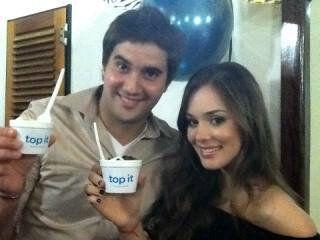 Dany Martins y Valeria Baroni. Actores.  Adictos a Top It
