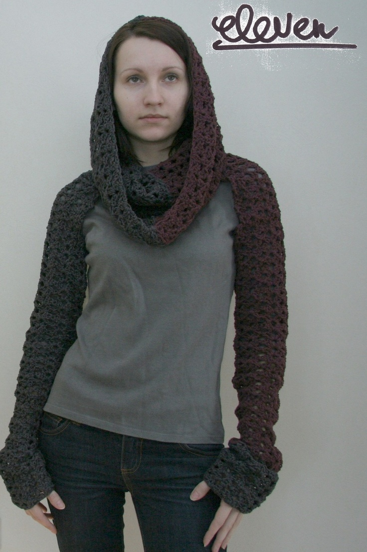 Knitting Pattern For Shrug With Hood : Crochet pattern PDF - Transformer 4in1 - Two versions ...