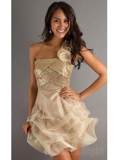 Gold dama dresses